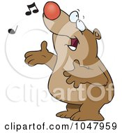 Cartoon Singing Bear