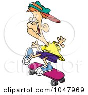 Royalty Free RF Clip Art Illustration Of A Cartoon Skater Boy by toonaday