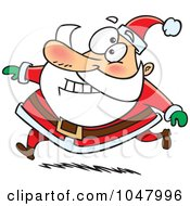 Cartoon Running Santa
