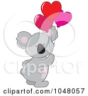 Valentine Koala With Heart Balloons