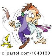 Cartoon Businessman Slipping