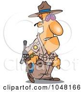 Royalty Free RF Clip Art Illustration Of A Cartoon Mad Cop