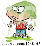 Royalty Free RF Clip Art Illustration Of A Cartoon Slimed Boy