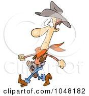 Royalty Free RF Clip Art Illustration Of A Cartoon Slim Cowboy