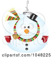 Royalty Free RF Clip Art Illustration Of A Cartoon Snowman Ornament by toonaday
