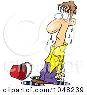 Royalty Free RF Clip Art Illustration Of A Cartoon Soaked Guy