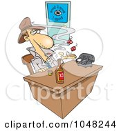 Royalty Free RF Clip Art Illustration Of A Cartoon Snoop In An Office