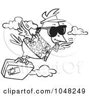 Flying bird cartoon black and white - photo#55
