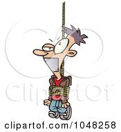 Royalty Free RF Clip Art Illustration Of A Cartoon Tied And Gagged Guy