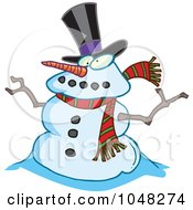 Royalty Free RF Clip Art Illustration Of A Cartoon Snowman by toonaday