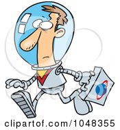 Royalty Free RF Clip Art Illustration Of A Cartoon Space Businessman by toonaday