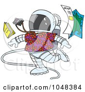 Royalty Free RF Clip Art Illustration Of A Cartoon Space Tourist by toonaday