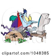 Royalty Free RF Clip Art Illustration Of A Cartoon Spampire Vampire by toonaday