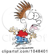 Royalty Free RF Clip Art Illustration Of A Cartoon Scared Boy Turning White by toonaday