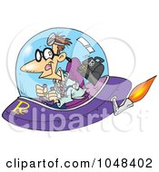 Royalty Free RF Clip Art Illustration Of A Cartoon Space Doctor by toonaday