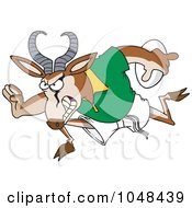 Royalty Free RF Clip Art Illustration Of A Cartoon Rugby Antelope Springbok by toonaday