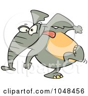 Cartoon Elephant Exiting Stage Left