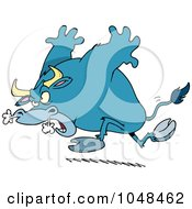 Royalty Free RF Clip Art Illustration Of A Cartoon Raging Bull