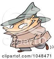 Royalty Free RF Clip Art Illustration Of A Cartoon Spy Kid by toonaday