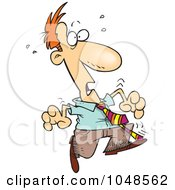 Royalty Free RF Clip Art Illustration Of A Cartoon Startled Businessman