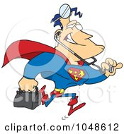 Royalty Free RF Clip Art Illustration Of A Cartoon Super Doctor by toonaday