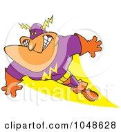 Royalty Free RF Clip Art Illustration Of A Cartoon Super Guy
