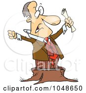 Cartoon Stumping Businessman