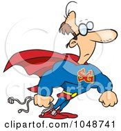 Royalty Free RF Clip Art Illustration Of A Cartoon Super Geek by toonaday