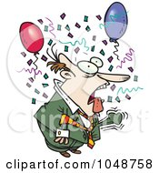 Royalty Free RF Clip Art Illustration Of A Cartoon Surprised Businessman