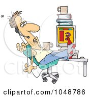 Royalty Free RF Clip Art Illustration Of A Cartoon Disgusting Customer Support Worker by toonaday