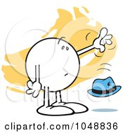 Royalty Free RF Clip Art Illustration Of A Moodie Character Dropping A Hat