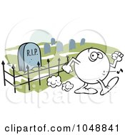 Royalty Free RF Clip Art Illustration Of A Moodie Character Whistling Past A Graveyard