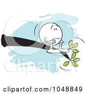 Royalty Free RF Clip Art Illustration Of A Lost Moodie Character Out On A Limb