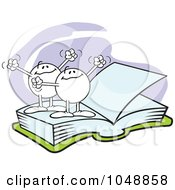 Royalty Free RF Clip Art Illustration Of Moodie Characters On The Same Page