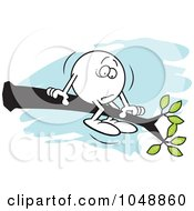 Royalty Free RF Clip Art Illustration Of A Moodie Character Out On A Limb