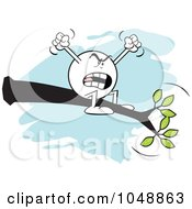 Royalty Free RF Clip Art Illustration Of A Complaining Moodie Character Out On A Limb