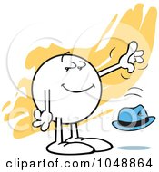 Royalty Free RF Clip Art Illustration Of A Moodie Character Casually Dropping A Hat