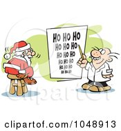 Royalty Free RF Clip Art Illustration Of Santa Taking An Eye Exam by Johnny Sajem