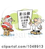 Santa Taking An Eye Exam