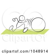 Royalty Free RF Clip Art Illustration Of A Stickler In A Hula Hoop Race Over Green