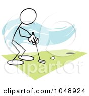 Stickler Golfing Over Blue by Johnny Sajem