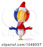 Royalty Free RF Clip Art Illustration Of A 3d French Chicken Shrugging by Julos