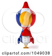 Royalty Free RF Clip Art Illustration Of A 3d French Chicken Facing Forward by Julos