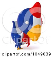 Royalty Free RF Clip Art Illustration Of A 3d French Chicken Pouting by Julos