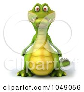 Royalty Free RF Clip Art Illustration Of A 3d Crocodile by Julos