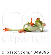 Royalty Free RF Clip Art Illustration Of A 3d Springer Frog Reclined With A Thumb Up