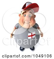 Royalty Free RF Clip Art Illustration Of A 3d Fat English Guy Pouting