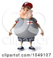 Royalty Free RF Clip Art Illustration Of A 3d Fat English Guy Facing Front by Julos