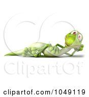Royalty Free RF Clip Art Illustration Of A 3d Lizard Reclined by Julos
