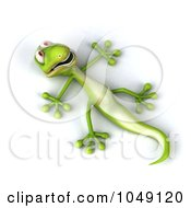 Royalty Free RF Clip Art Illustration Of A 3d Lizard Laying On His Back